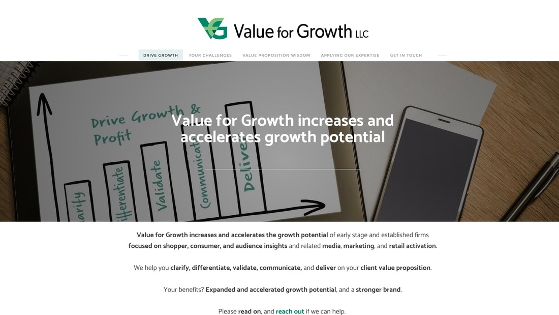 Value for Growth website