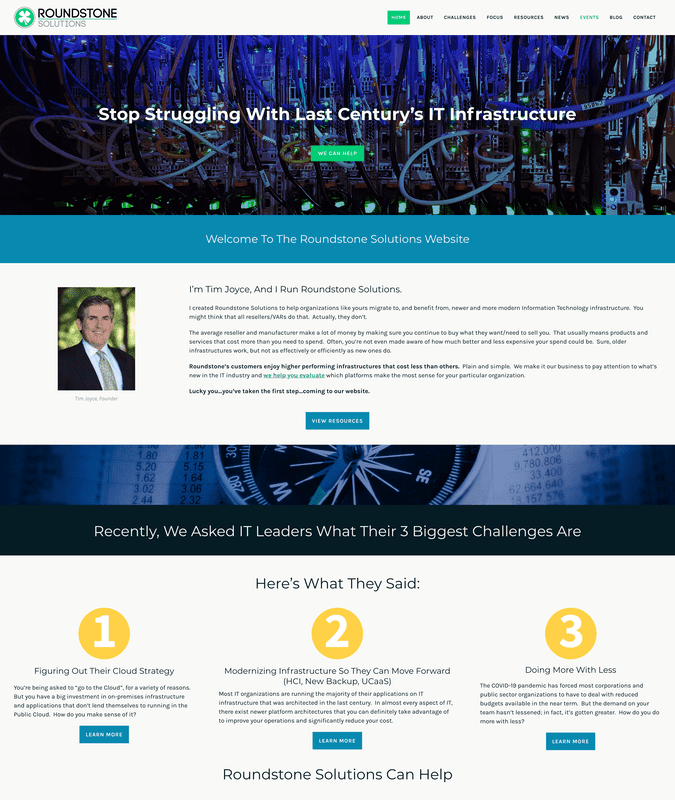 Roundstone Solutions Weebly website