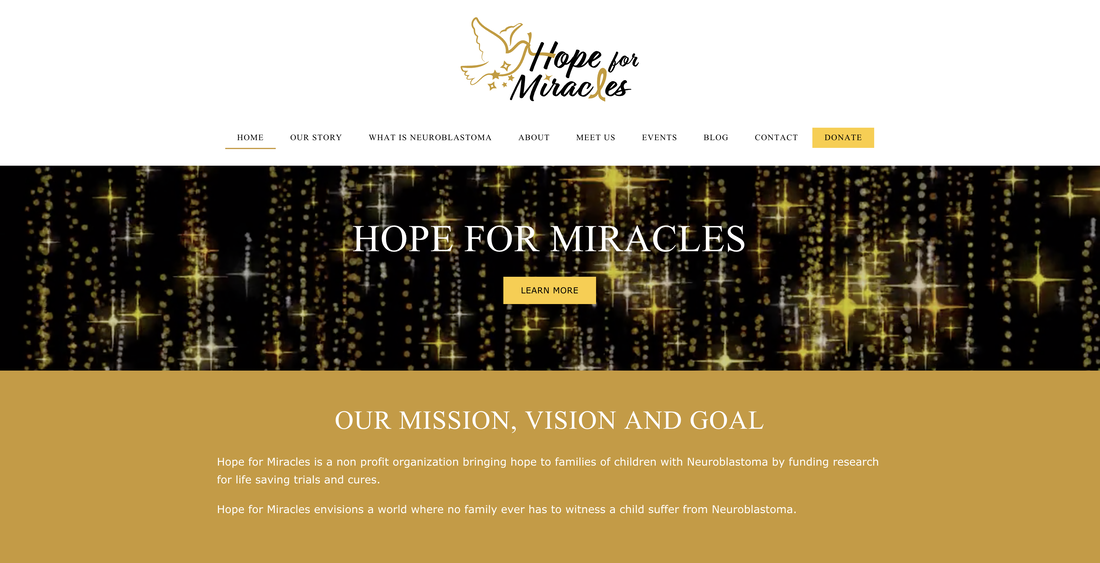 Hope for Miracles website