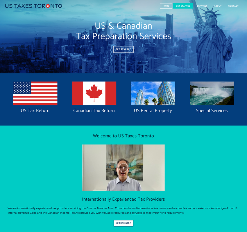 US Taxes Toronto website graphic